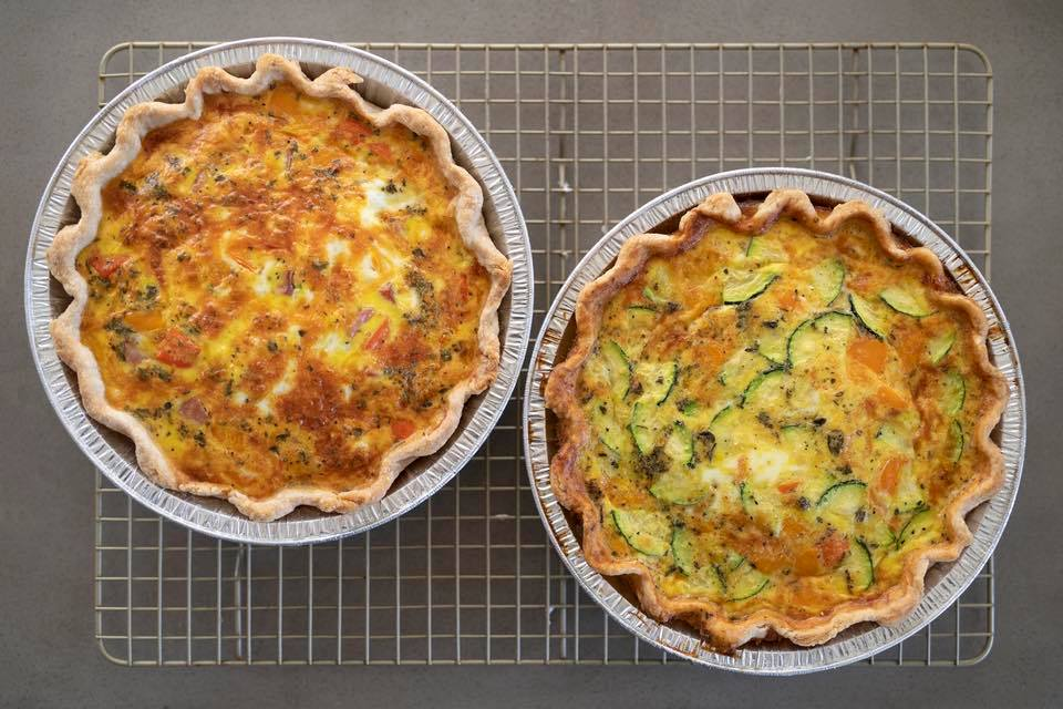 Something Savory - Quiche will take your next brunch from ordinary to extraordinary. Simple and fresh ingredients you'll love. Vegetarian options available.