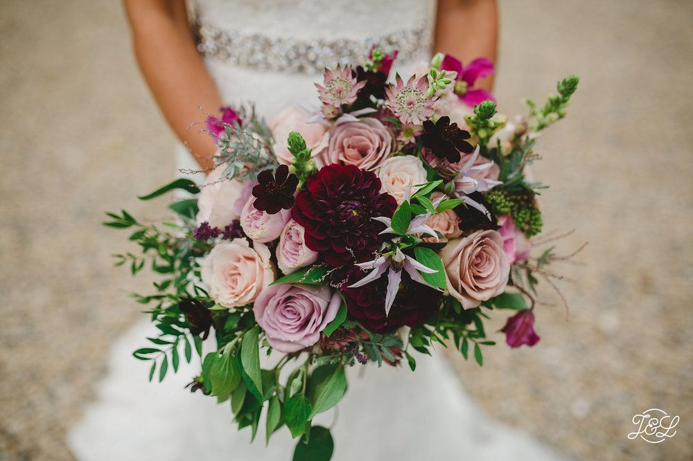 How We Created Stunning Dusky Pink Mauve And Plum Bridal Bouquets