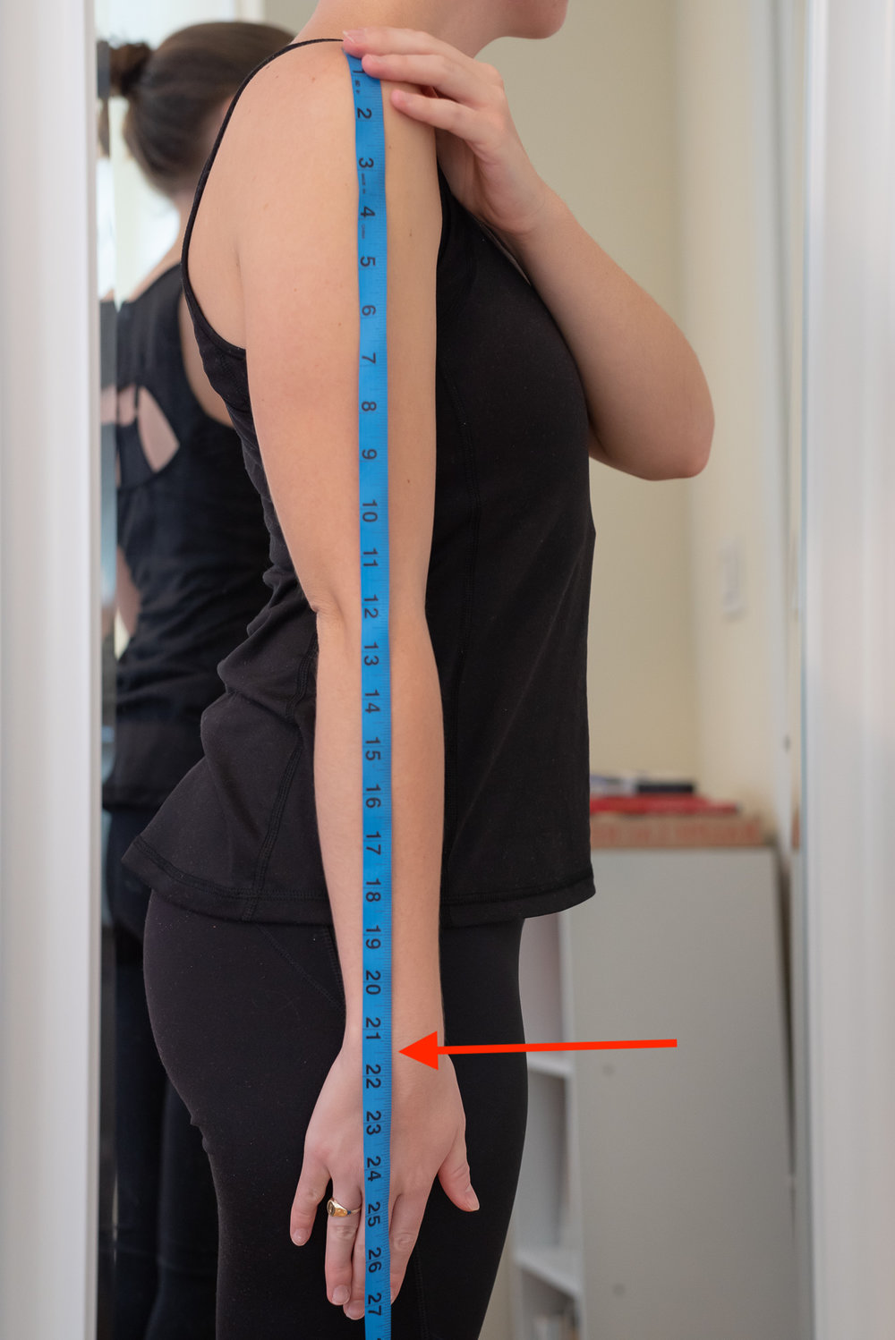 How to take your arm length or sleeve length measurement