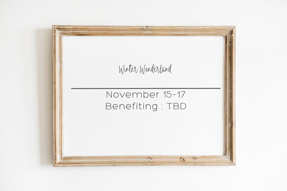 Winter Wonderland || November 15-17    More info to come, sign up for the mailing list on the home page to be the first to know when sign ups are ready…