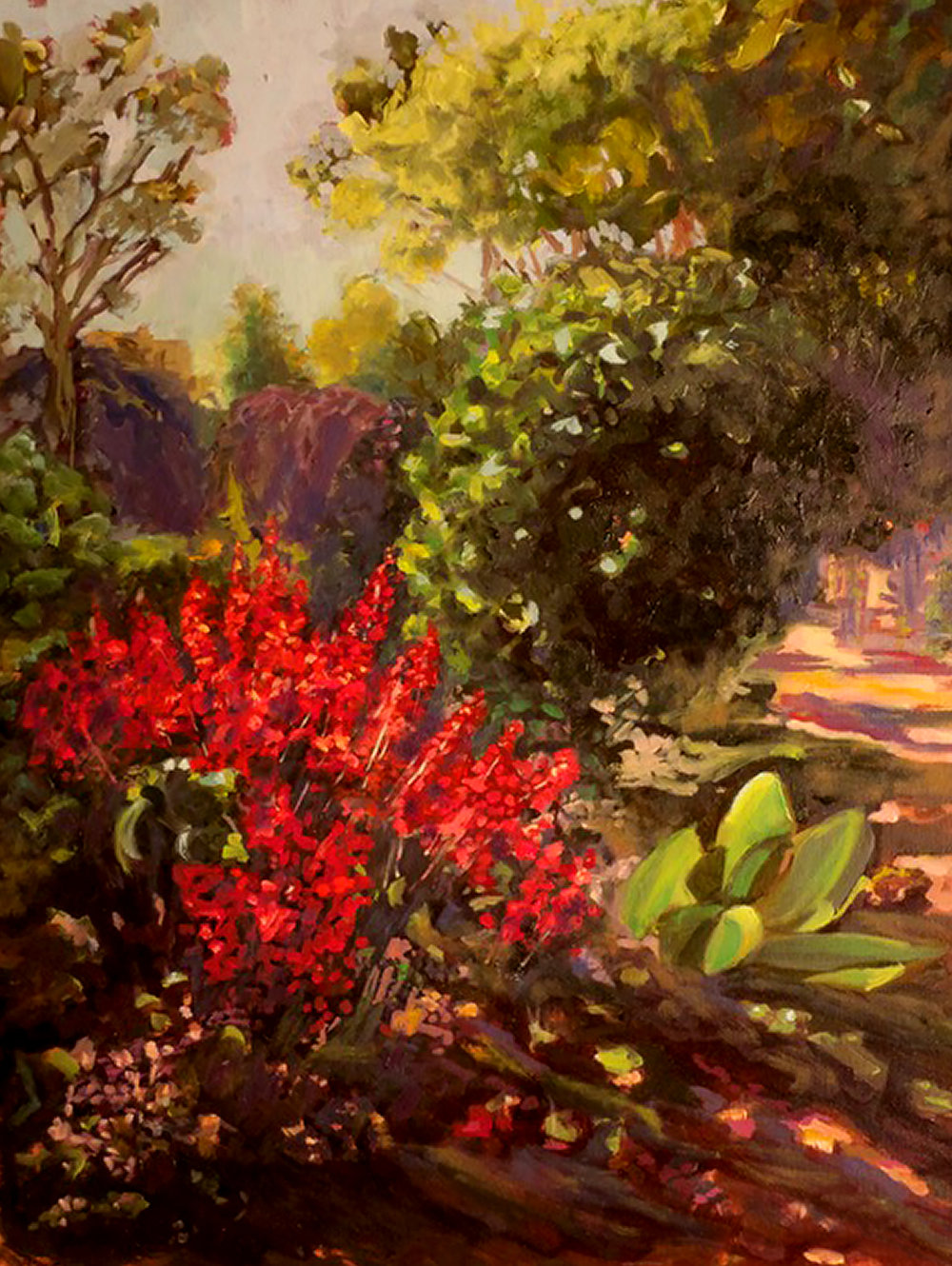 """Edwin Warner Gardens""; 20x24""; sold"