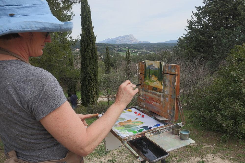 Aix en Provence, April 2017: Painting Cezanne's view near his atelier. Bucket list check!
