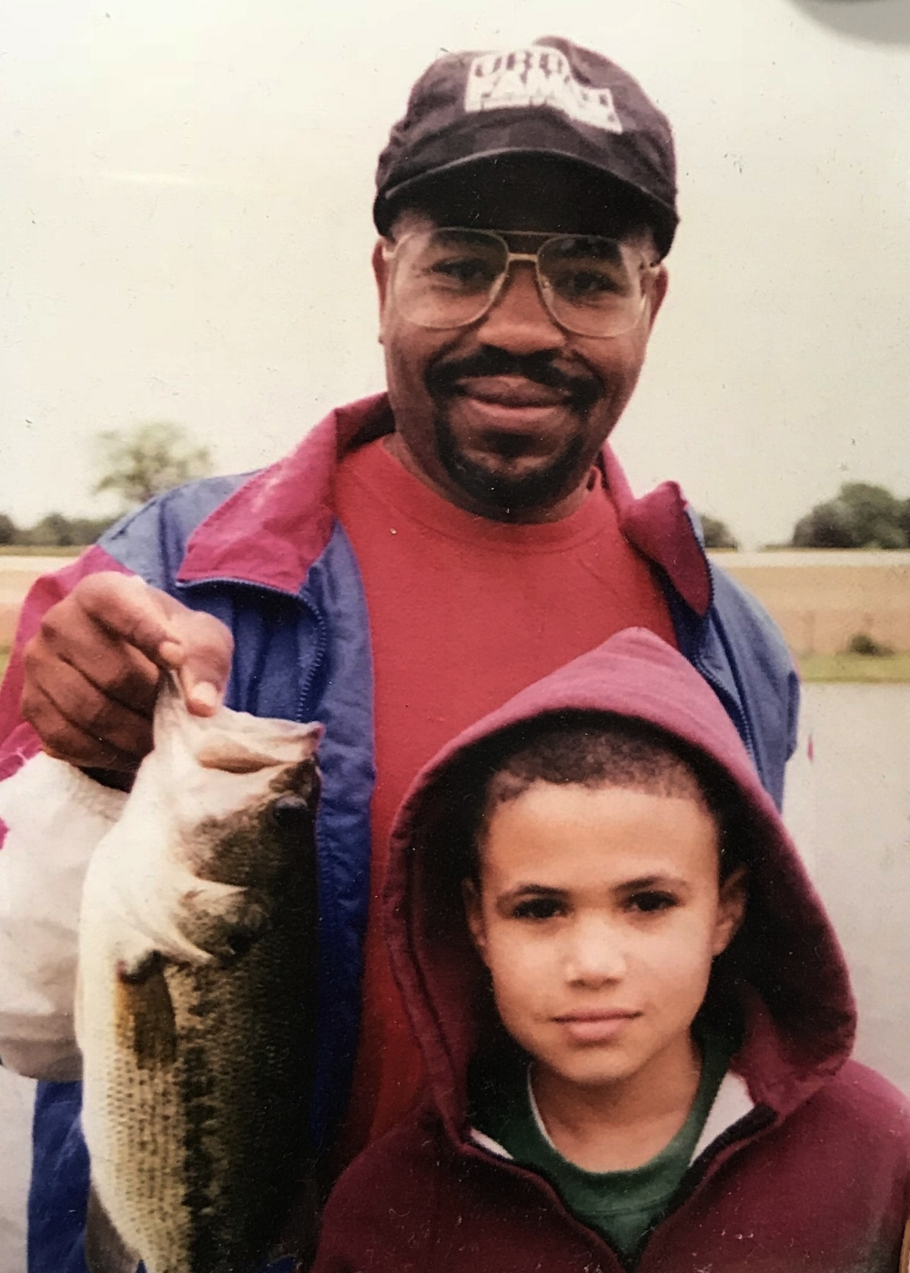 My dad and me on a fishing trip, circa 1995.