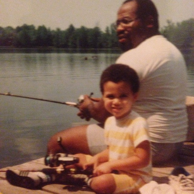 Pictured with my father, Spencer Perkins, on one of countless fishing trips.