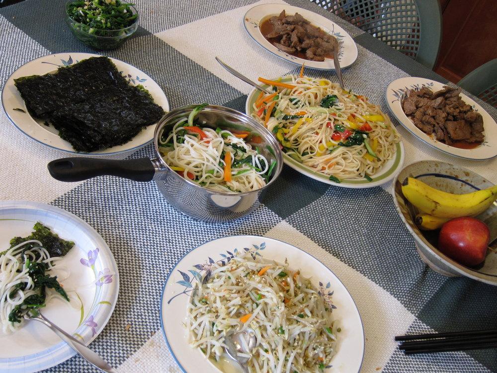 Kristina's Mom cooks delicious Korean food