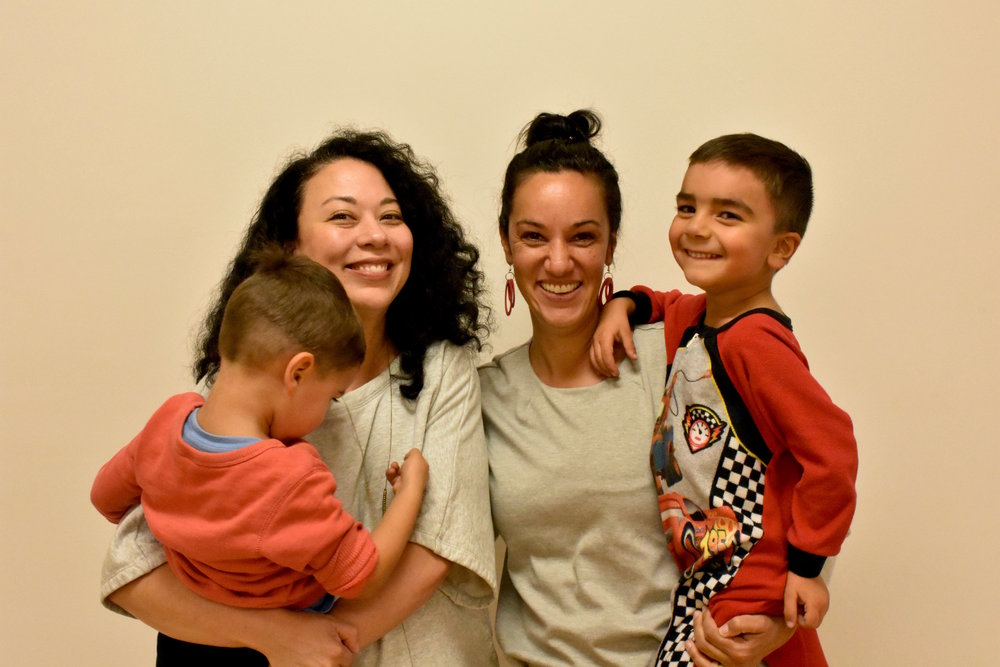 Kristina with our friend Monica and her sons Gabriel (left) and Damian (right). Kristina both belong to the women of color group and are committed to bringing equity and diversity to our community.