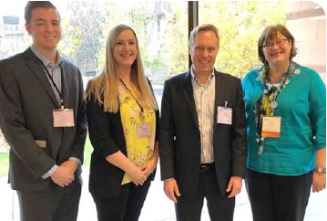 Our Wealth Managers, pictured from left to right: Jesse Kuusisto, Mallory Kretman, CFP®, Saul Baumann, CFP®, and Laura Kuntz, CPA/PFS, MBT.