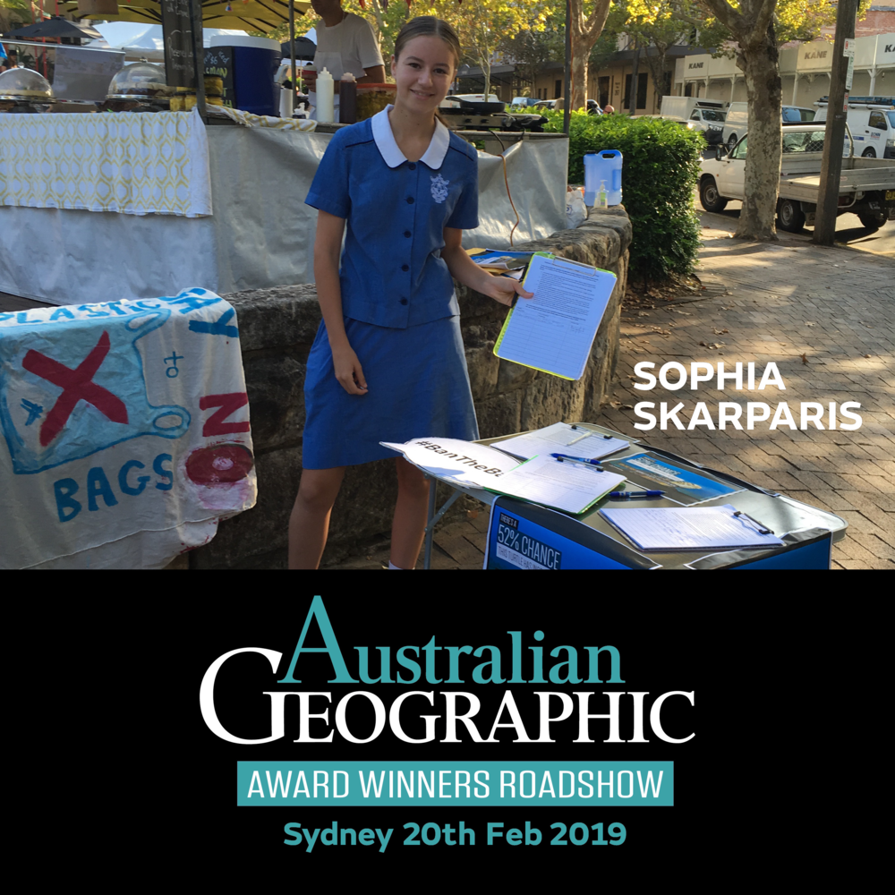 Promotion of 2019 Australian Geographic Award Winners roadshow