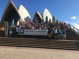Clean Up Australia Day - Surfrider Foundation on steps of Sydney Opera House
