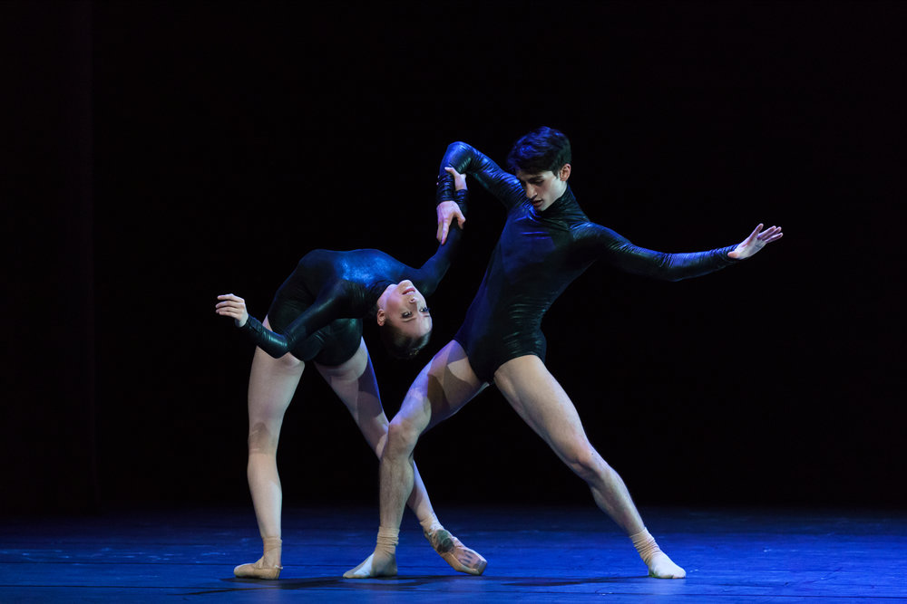 Alexandria Marx and Michele Esposito in Fingers in the Air.  Photo by Michel Schnater