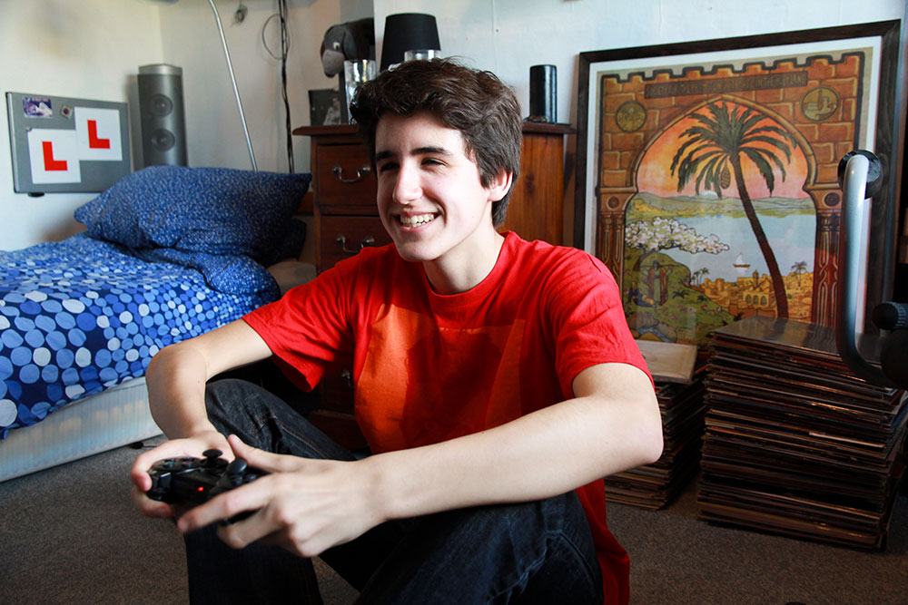 Eligh, 16 years old   Gamer & Developer: Eligh enjoys the scope for originality that learning coding has offered him.
