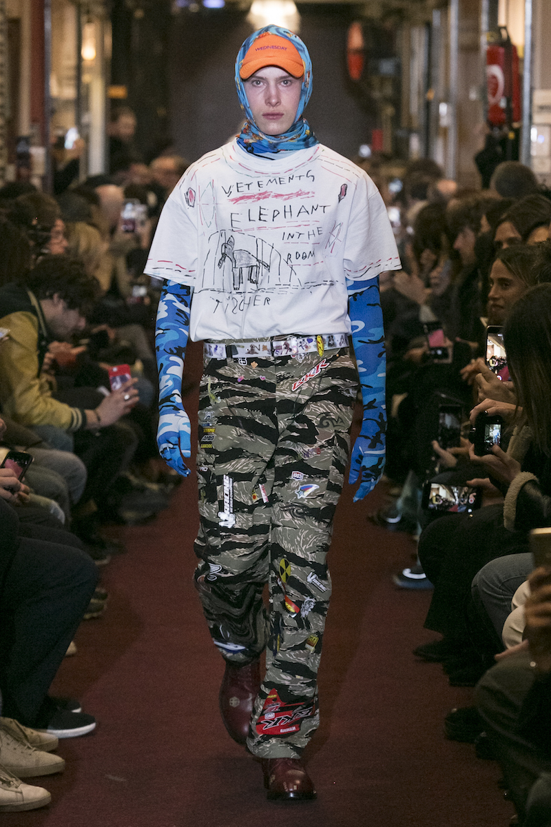 Vetements AW19  Key makeupartist Inge Grognard
