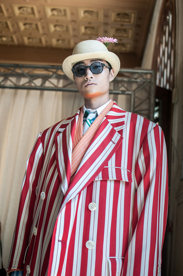Thom Browne SS19  Key makeupartist Issamaya Ffrench