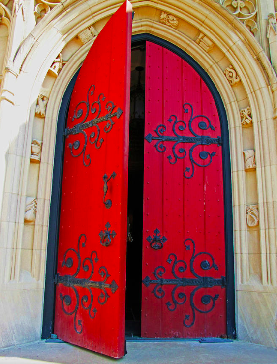 Church Door, Photograph by Rodney Campbell