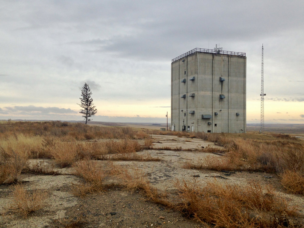 Abandoned air force station near Fortuna, ND