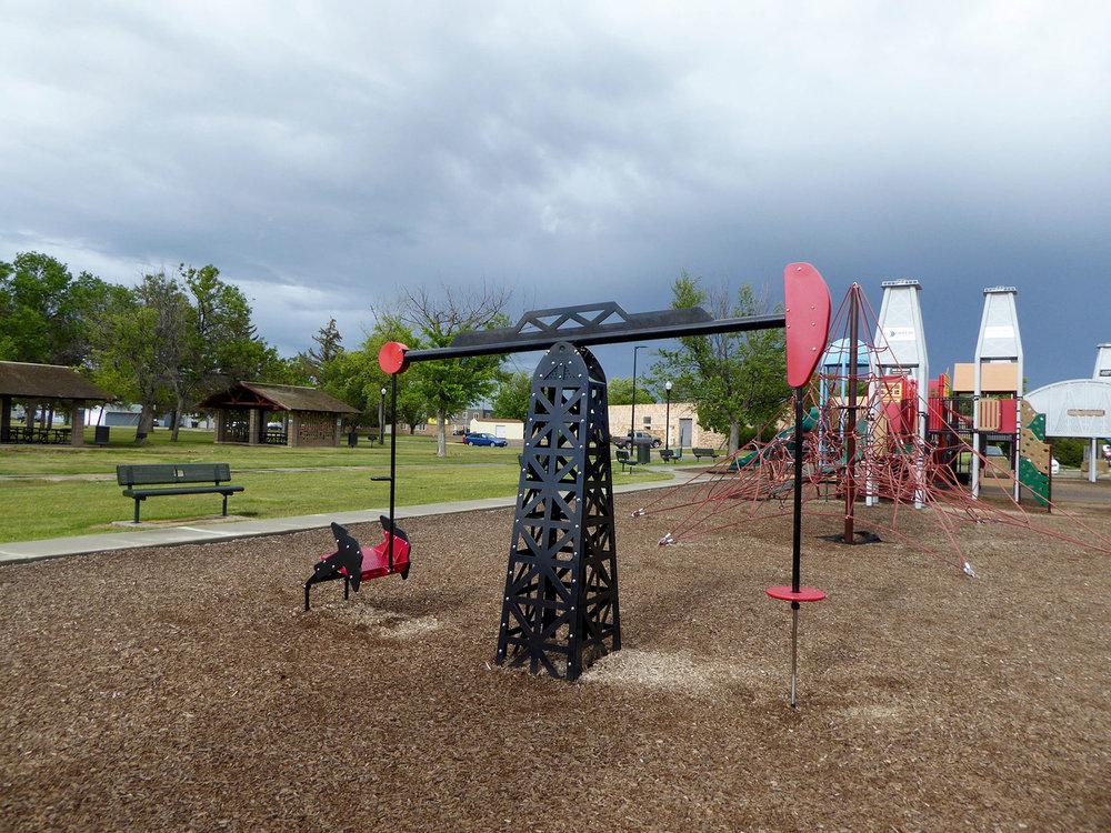 Oil-themed playground. Williston, ND