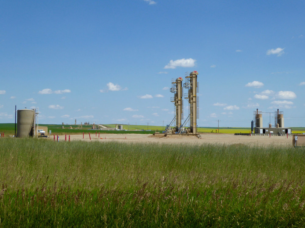 Oil development east of Williston, ND