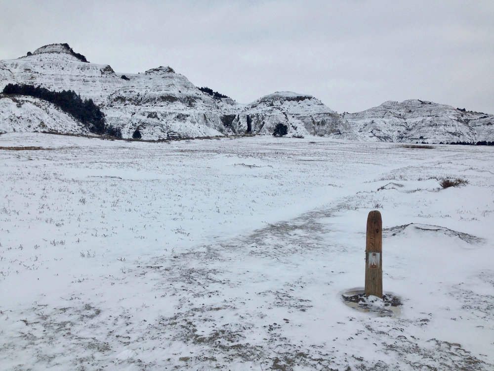 Wintery day at Theodore Roosevelt National Park, November 2018