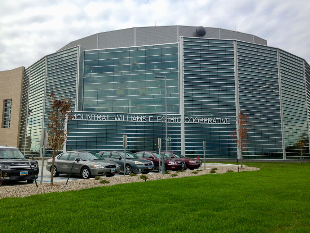 New HQ for Mountrail-Williams Electric Co-op, indicative of their significant growth due to boom