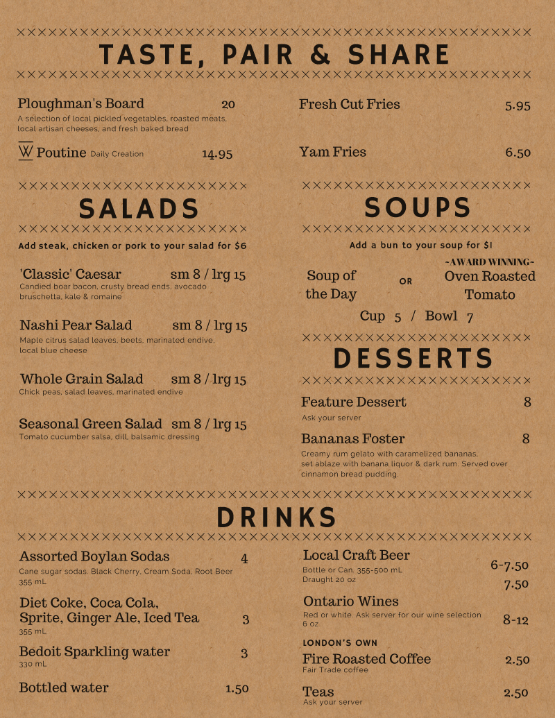 Sandwich Lunch Menu Design on Kraft pg 2