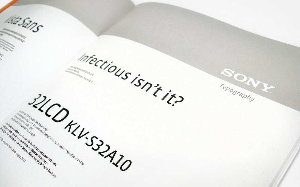 Sony Design Guidelines – Typography