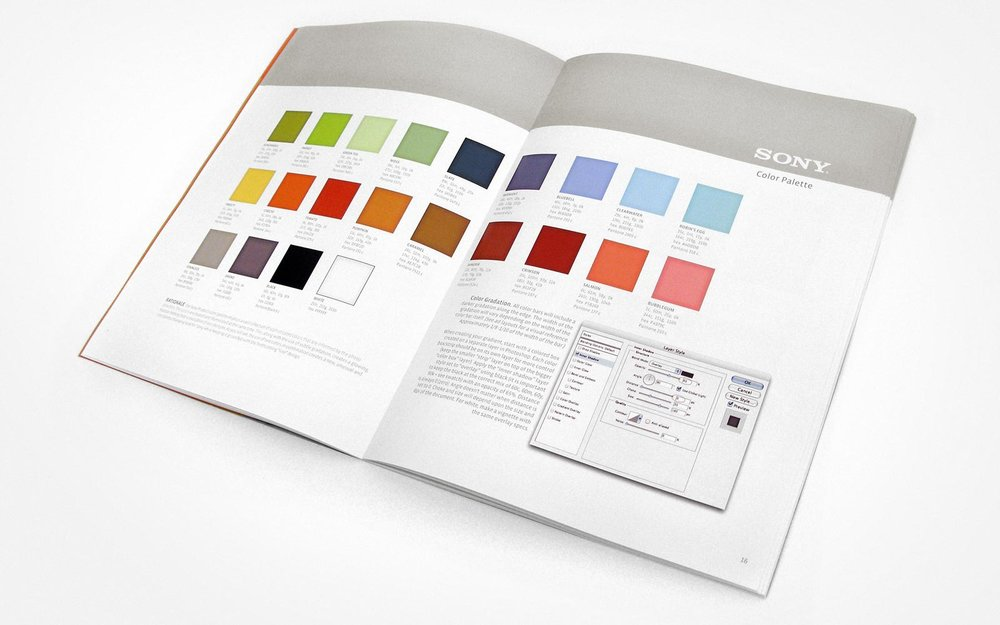 Sony Design Guidelines – Color Palette