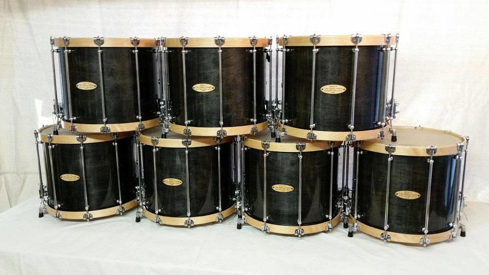 Custom snares: Kevin Barry Pipe and Drums