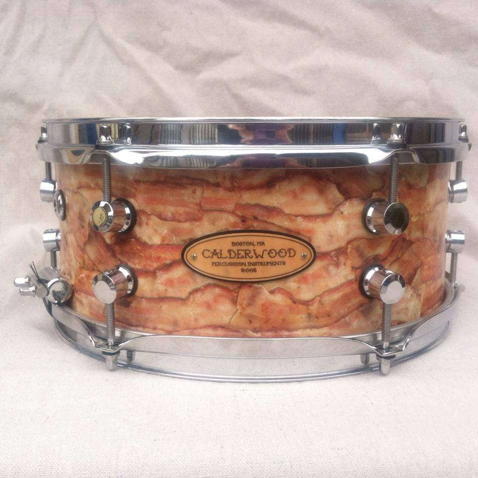 """Sunday Brunch"" bacon-wrapped custom snare"
