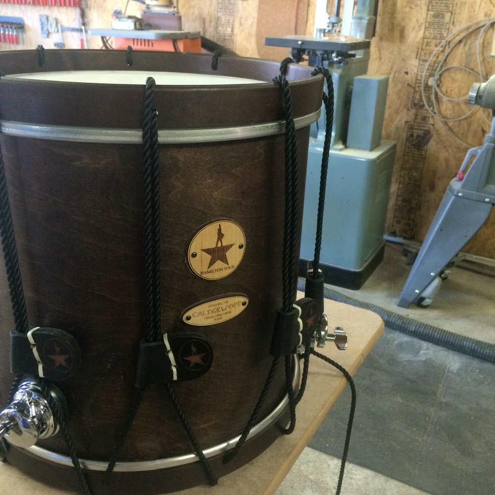 Rope tension concert snare for the Hamilton pit
