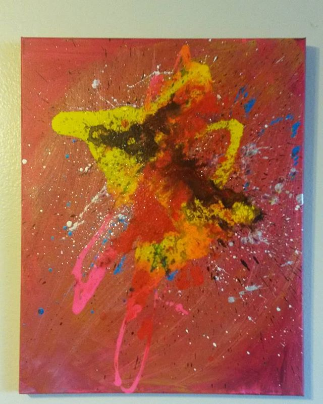 Wild Thing. 16x20. Www.snowpinecone.com #abstractart #abstract #painting #abstractpainting #wallartdecor #abstractexpressionism.jpg