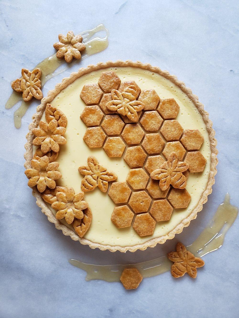 Ricotta Mascarpone Honey Tart