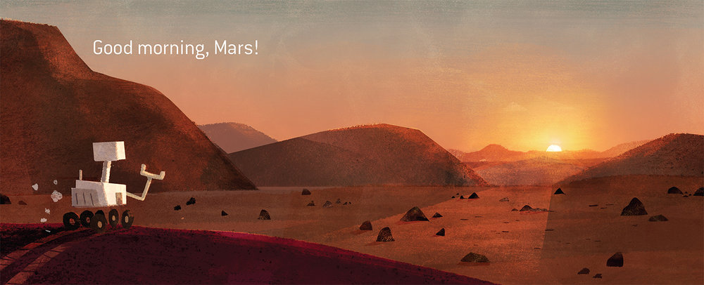 Birthday on Mars - Spread