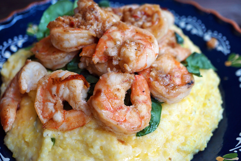 creamy polenta and shrimp dina deleasa.jpg