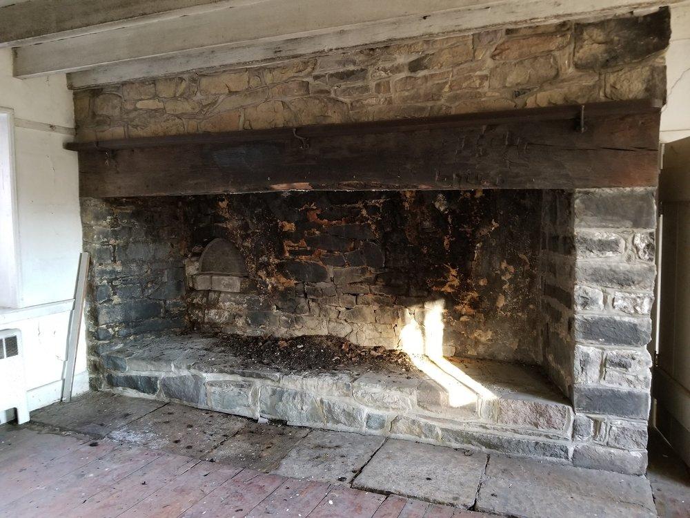 1744 walk-in fireplace