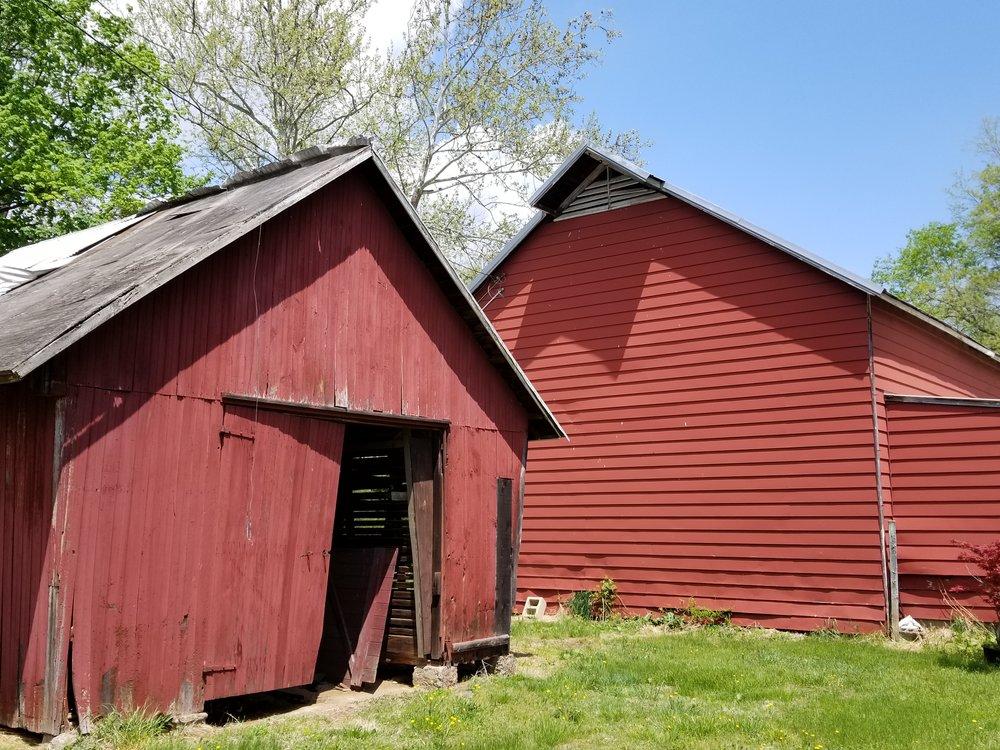 Historic corncrib and big barn