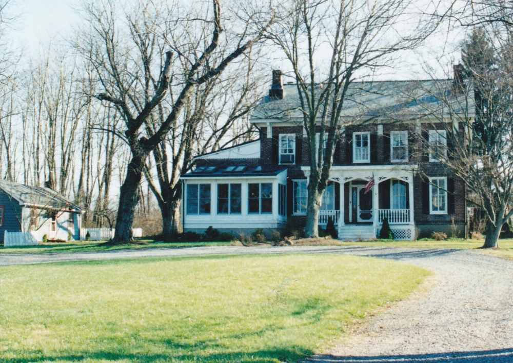 The Unionville farmhouse, circa 1991, after a great deal of renovation. It looks much the same today.