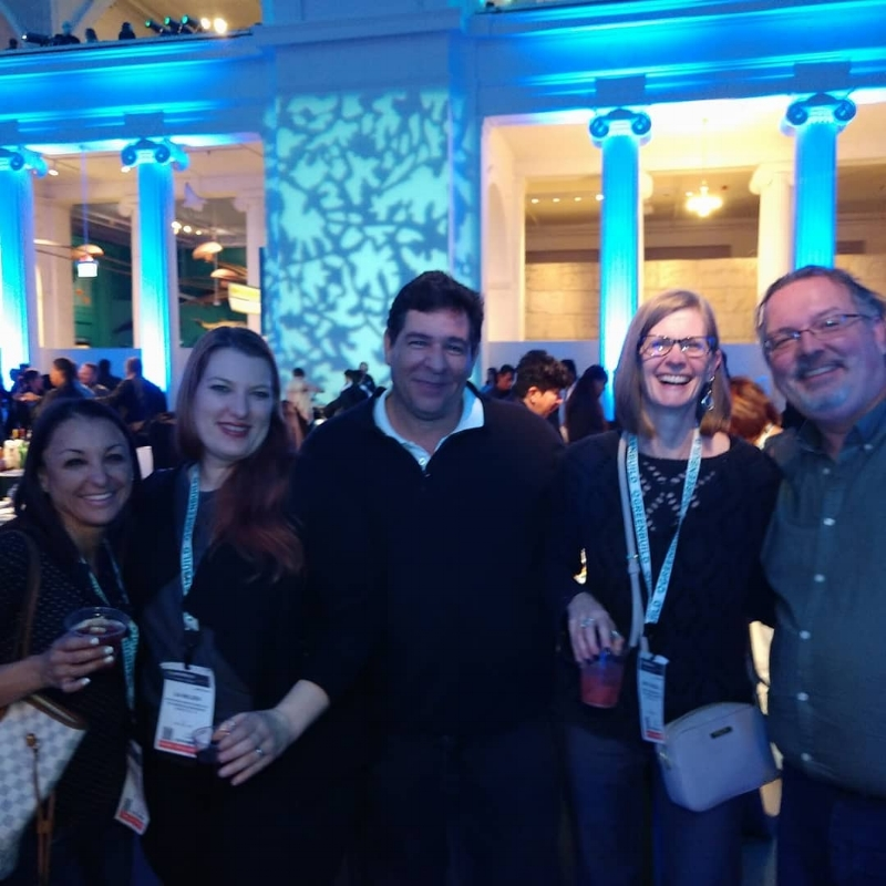 Enjoying the Greenbuild reception with colleagues at Chicago's Field Museum