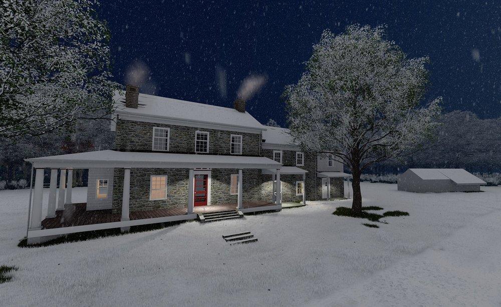 Rendering of proposed exterior by Kris Welshman