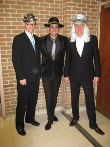 Steve, Mike and I for our Halloween performance