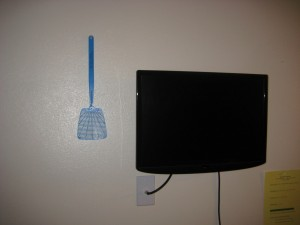 Flyswatter comes standard