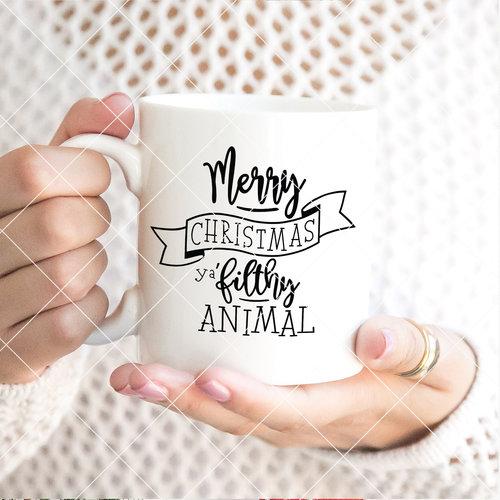 Merry Christmas Ya Filthy Animal Svg.Christmas Svg Bundles Co