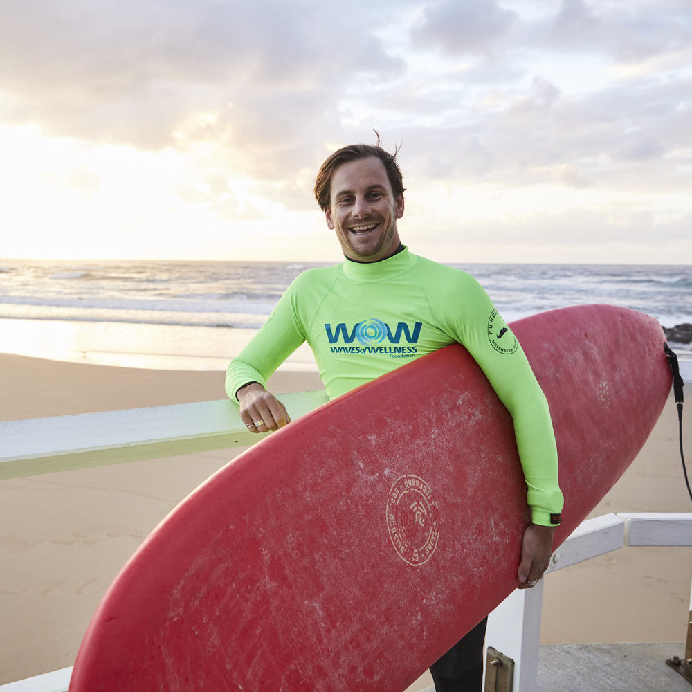 Joel Pilgrim, CEO - Waves of Wellness Foundation   Photo credit @WestpacScholars / @FlashpointLabs