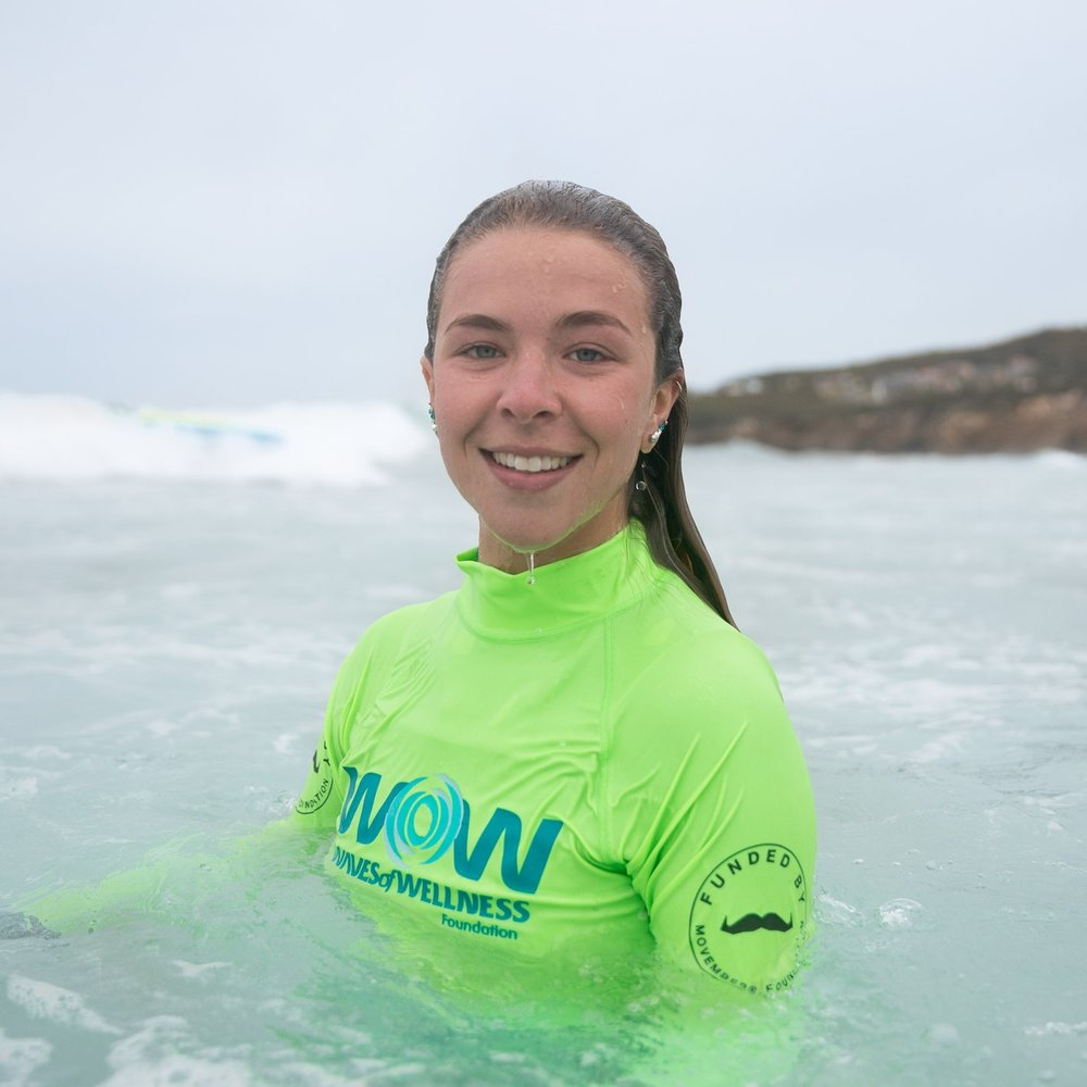 MIKAYLA ATKINSProgram Instructor - Mikayla is the newest member of WOW's program team. She's super passionate about mental health and keen to make a big impact in surf therapy. When not surf instructing, Mikayla is a whiz with all things interior design, working with one of newcastle's top design firms. In-between, you'll find Mikayla on a vanlife adventure on the road less taken searching for perfect waves.