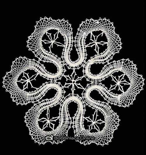 Bobbin Lace Snow Flake Design