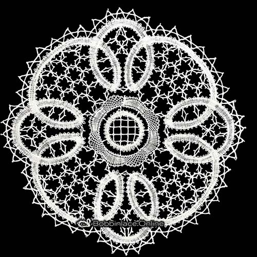 Bobbin Lace Flower Design