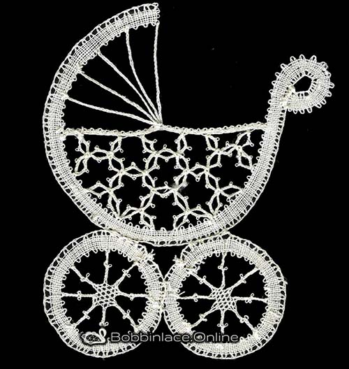 Bobbin Lace Baby Carriage