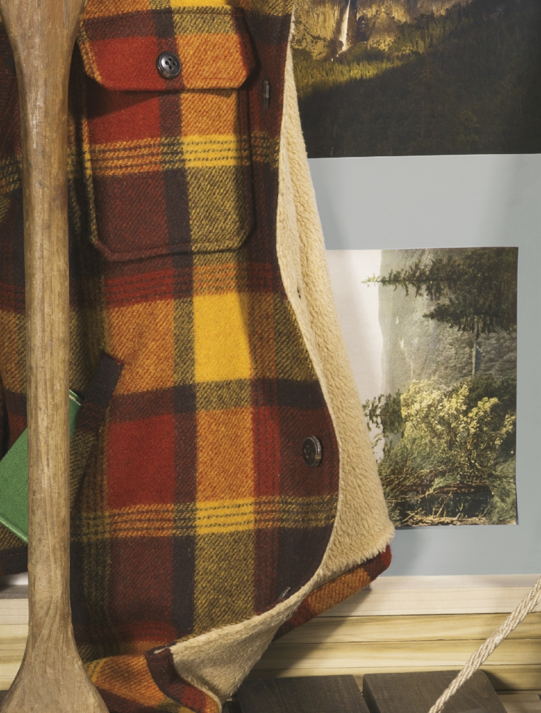 fleece-lined wool-blend shirt jacket L.L.BEAN SIGNATURE