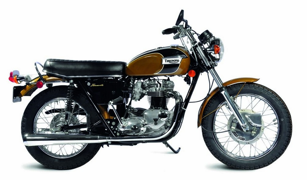 """1971 Triumph T120R Bonneville 650 Twin Launched in 1959 as """"The Best Motorcycle in the World,"""" the Bonneville T120 was produced primarily for the U.S. market, where enthusiasts were demanding extra performance."""