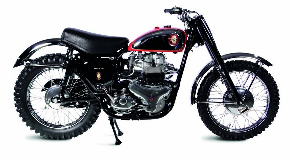 """1959 BSA A10 Spitfire Scrambler Dirt bikes like the Spitfire Scrambler ruled the racing circuit in the Western United States, earning them the nickname """"desert sleds."""" The big 650 twin wasn't light, but it had plenty of power and great handling."""