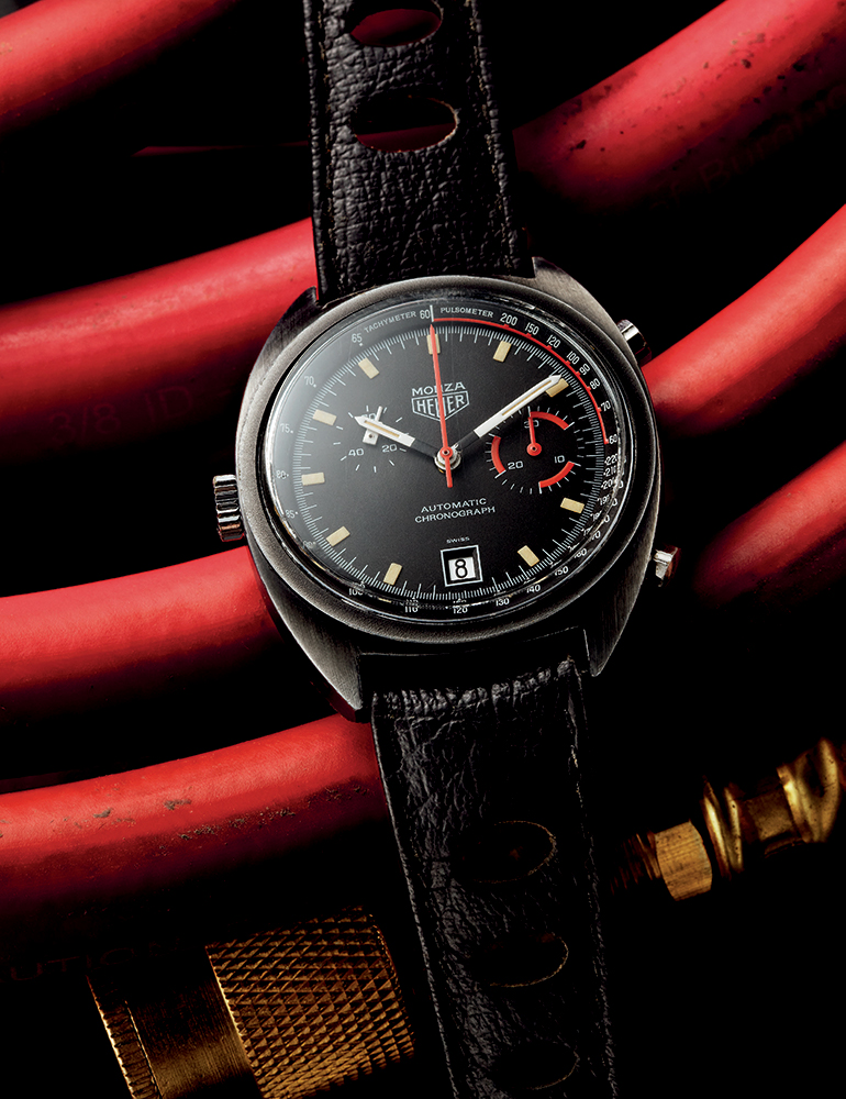 HEUER MONZA LIMITED EDITION   Ref. 150.501. 1975. PVD-coated Steel. 39 mm  available at manoftheworld.com